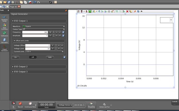 figure 8: opening screen of lr circuit file