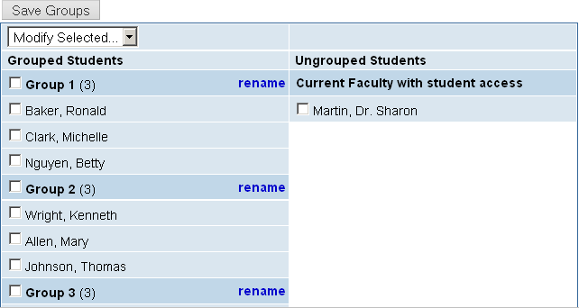 Create Student Groups for Course
