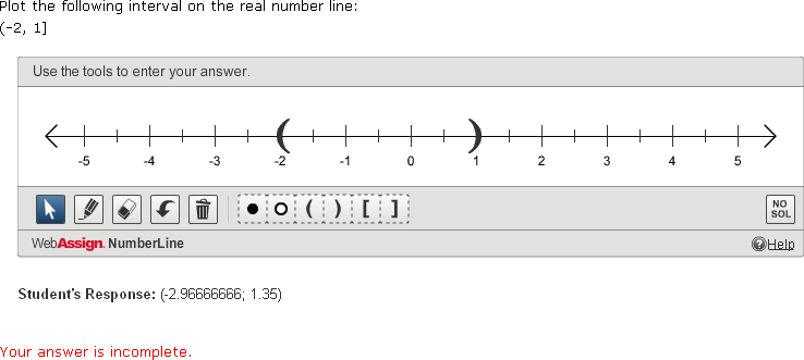 Grading numberline question with your answer is incomplete message fandeluxe Images
