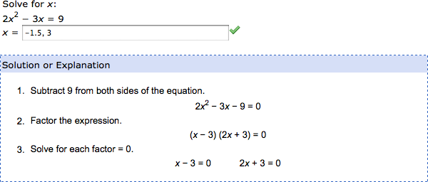webassign answers