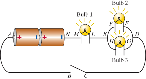 Solved: A Circuit Is Made Of Two 1.4 Volt Batteries And Th ...