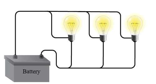 This Diagram Shows An Opened Parallel Circuit And The Lightbulbs Will