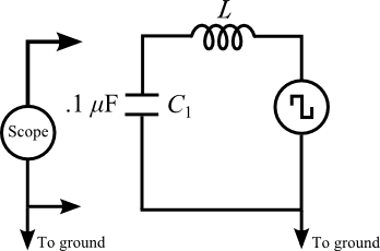 a circuit diagram showing a function generator on the right side  the top  wire of