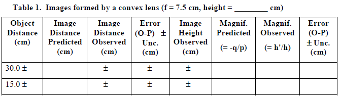 Thin Lenses and Lens Systems