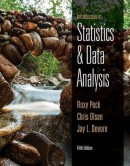 Introduction to Statistics and Data Analysis 5th edition